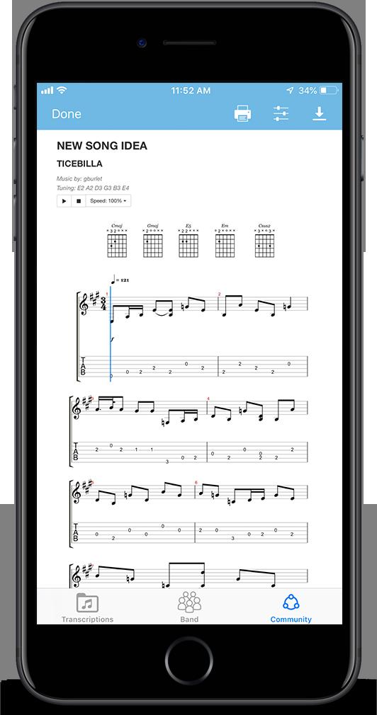 Frettable | music transcription